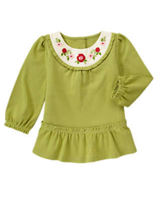 Apple Green Flower Swing Top by Gymboree