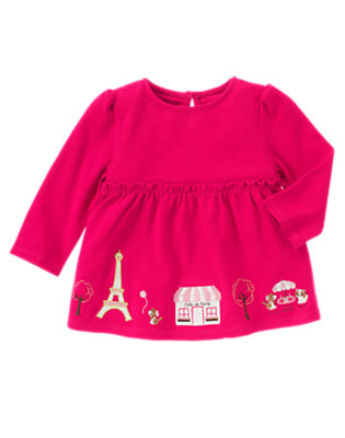 Chic Pink Parisian Puppies Swing Top by Gymboree