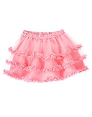 Toddler Girls Poodle Pink Ruffle Tiered Tutu by Gymboree