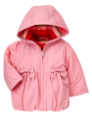 Toddler Girls Light Pink Hooded Puffer Jacket by Gymboree
