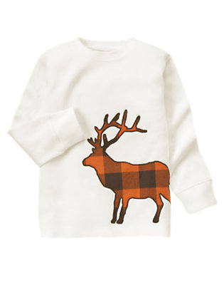 Ivory Plaid Elk Thermal Tee by Gymboree