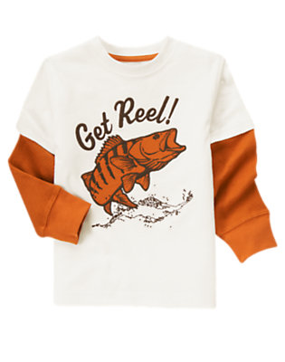 Ivory Fishing Double Sleeve Tee by Gymboree