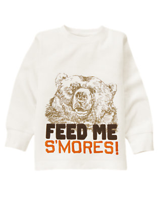 Ivory S'Mores Bear Thermal Tee by Gymboree