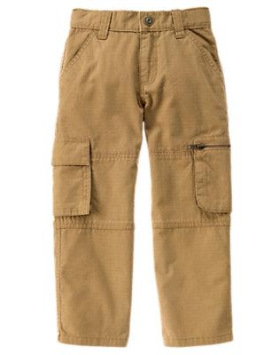 Boys Caramel Ripstop Cargo Pant by Gymboree