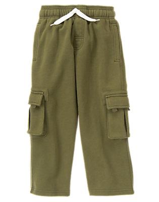 Dark Olive Green Fleece Cargo Pant by Gymboree
