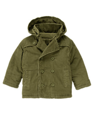 Dark Olive Green 3-In-1 Hooded Corduroy Jacket by Gymboree