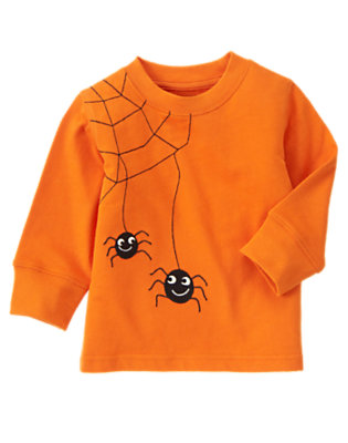 Pumpkin Orange Spider Raglan Tee by Gymboree