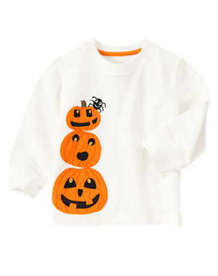 Toddler Boys Ivory Pumpkin Tee by Gymboree