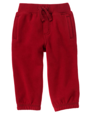 Toddler Boys Flag Red Fleece Active Pant by Gymboree