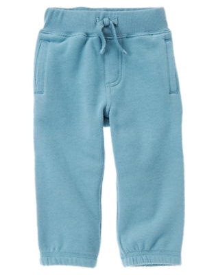 Slate Blue Fleece Active Pant by Gymboree