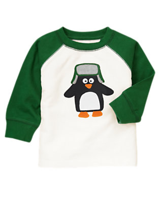 Toddler Boys Ivory Penguin Tee by Gymboree