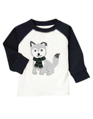 Ivory Wolf Pup Tee by Gymboree