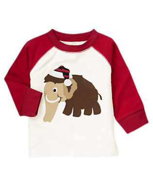 Toddler Boys Ivory Woolly Mammoth Tee by Gymboree