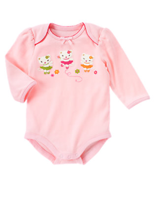 Light Pink Kitty Bodysuit by Gymboree