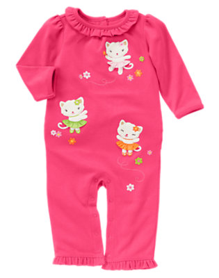 Baby Bright Pink Kitty One-Piece by Gymboree