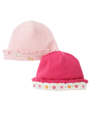 Bright Pink/Light Pink Kitty Beanie Two-Pack by Gymboree