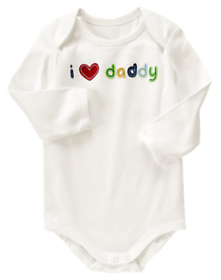 Ivory I Heart Daddy Bodysuit by Gymboree