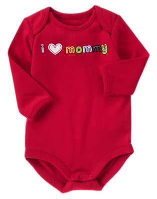 Dark Red I Heart Mommy Bodysuit by Gymboree