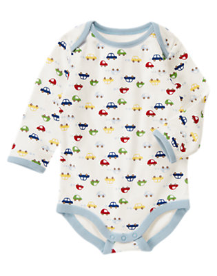 Ivory Car Bodysuit by Gymboree