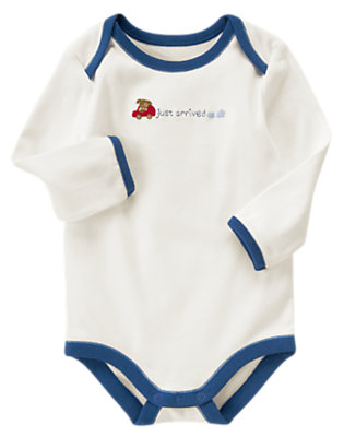 Ivory Just Arrived Bodysuit by Gymboree