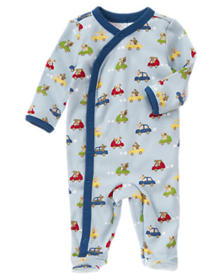 Baby Dogs and Cars Dogs and Cars Footed One Piece by Gymboree