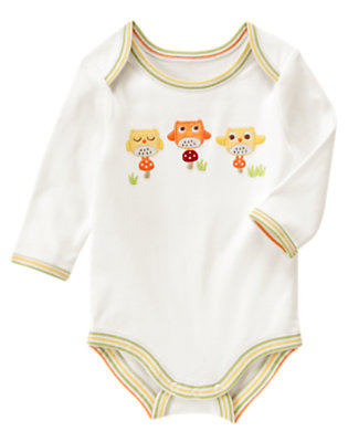 Ivory Owl Bodysuit by Gymboree