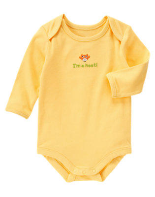 Baby Yellow I'm A Hoot Bodysuit by Gymboree