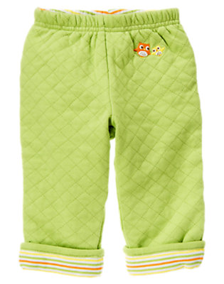 Baby Green Owl Quilted Reversible Pant by Gymboree
