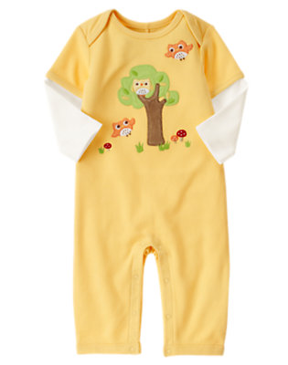 Baby Yellow Owl One-Piece by Gymboree