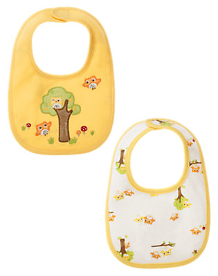 Yellow/Green Stripe Owl Bib Two-Pack by Gymboree
