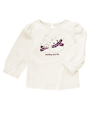 Winter Ivory Mommy & Me Polar Bear Tee by Gymboree