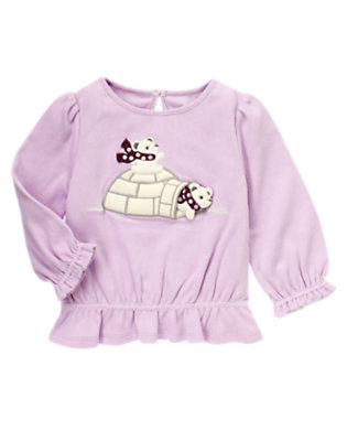 Sweet Lavender Polar Bear Igloo Tee by Gymboree