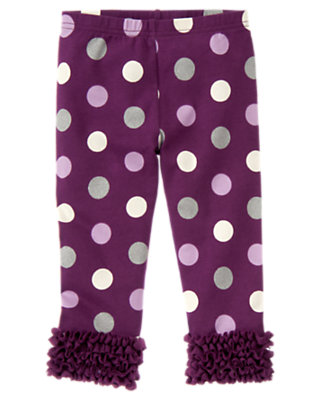 Toddler Girls Princess Purple Dot Dot Tulle Ruffle Legging by Gymboree