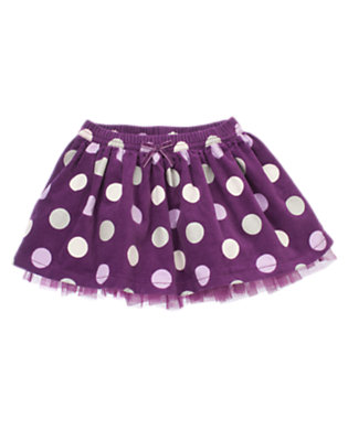 Princess Purple Dot Dot Velvet Corduroy Skirt by Gymboree