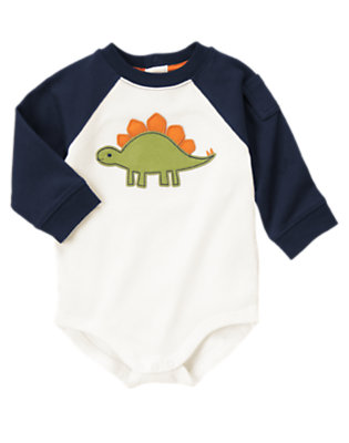 Ivory Dino Raglan Bodysuit by Gymboree