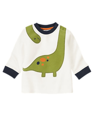 Ivory Dino Ringer Tee by Gymboree