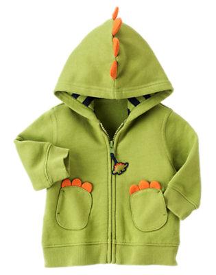 Dino Green Dino Hoodie by Gymboree