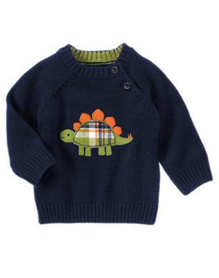 Baby Dino Navy Dino Sweater by Gymboree