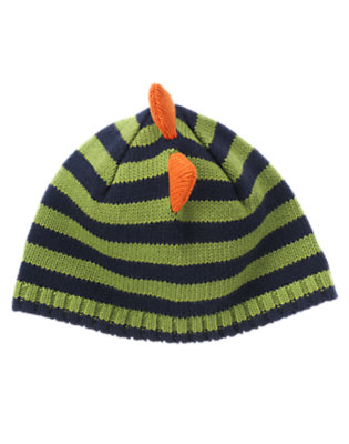 Dino Green Stripe Dino Spike Stripe Hat by Gymboree