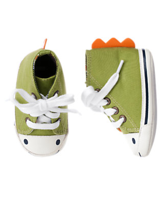 Dino Green Dino Crib Sneaker by Gymboree