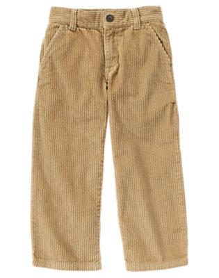 Khaki Dressy Corduroy Pant by Gymboree