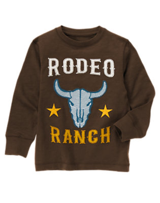 Chocolate Brown Rodeo Ranch Tee by Gymboree