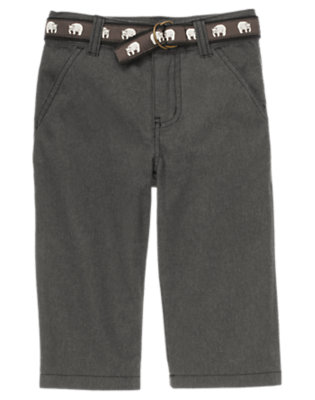 Misty Heather Polar Bear Belted Pant by Gymboree