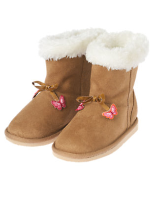 Tan Faux Suede Boot by Gymboree