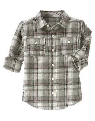 Misty Heather Plaid Plaid Flannel Shirt by Gymboree