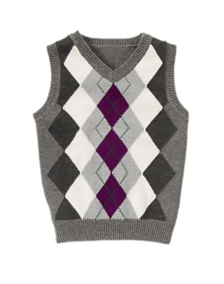 Misty Heather Argyle Sweater Vest by Gymboree