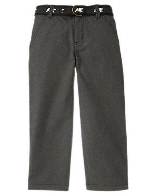 Charcoal Grey Polar Bear Belted Pant by Gymboree