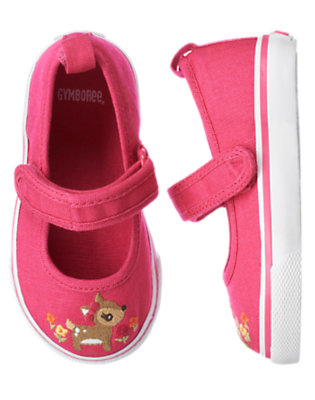 Toddler Girls Autumn Pink Deer Flower Sneaker by Gymboree
