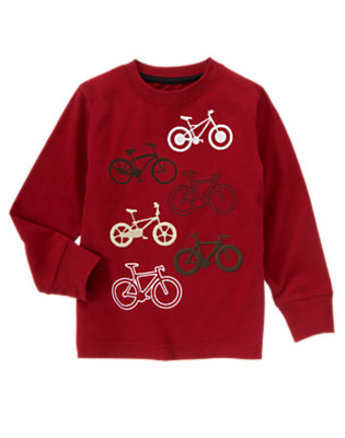 Flag Red Bicycles Tee by Gymboree