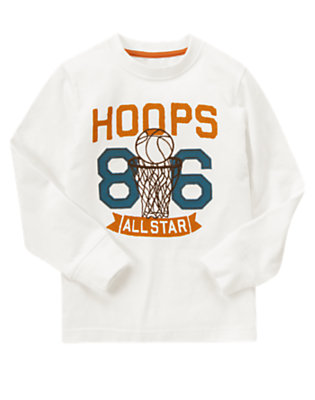 Ivory Basketball All Star Tee by Gymboree